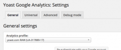 Google Analytics by Yoast screenshot 2
